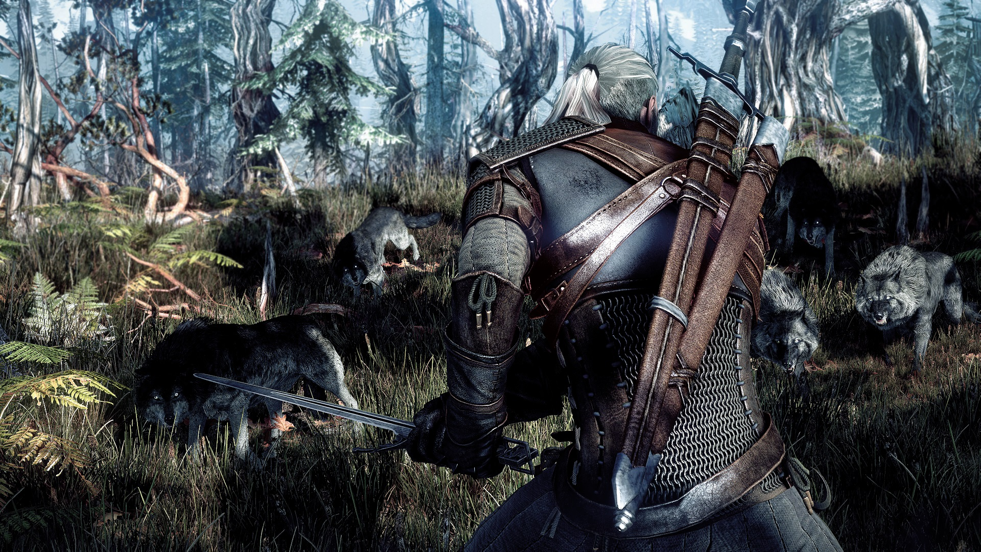Entre lobos Witcher 3