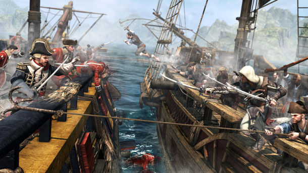 Assassin's Creed 4: un cuadro de batallas navales