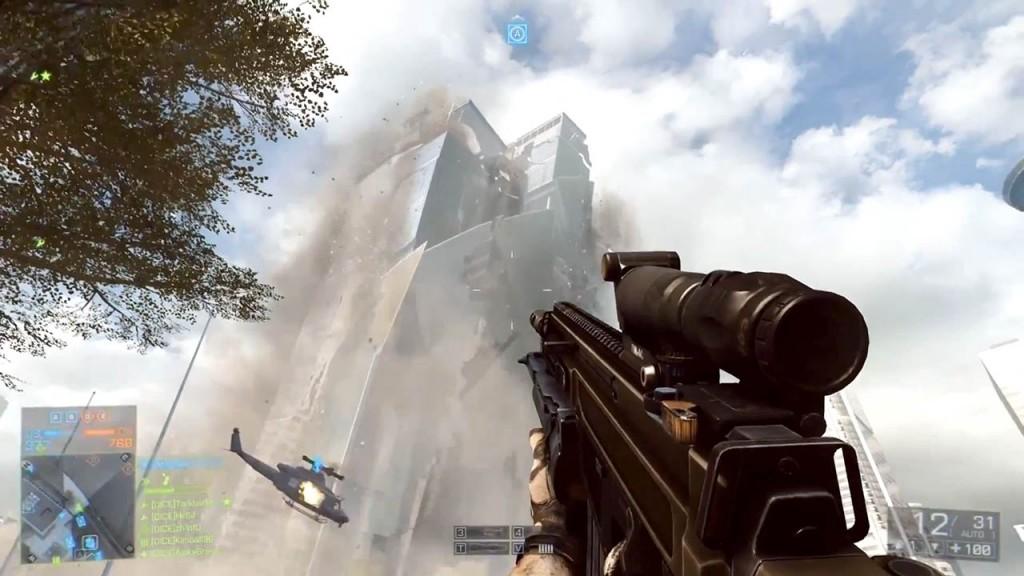 Pantalla de Battlefield 3 con su motor Frostbite 3 a pleno rendimiento.
