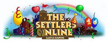 Logo de celebración de los 20 años de la saga en The Settlers Online.