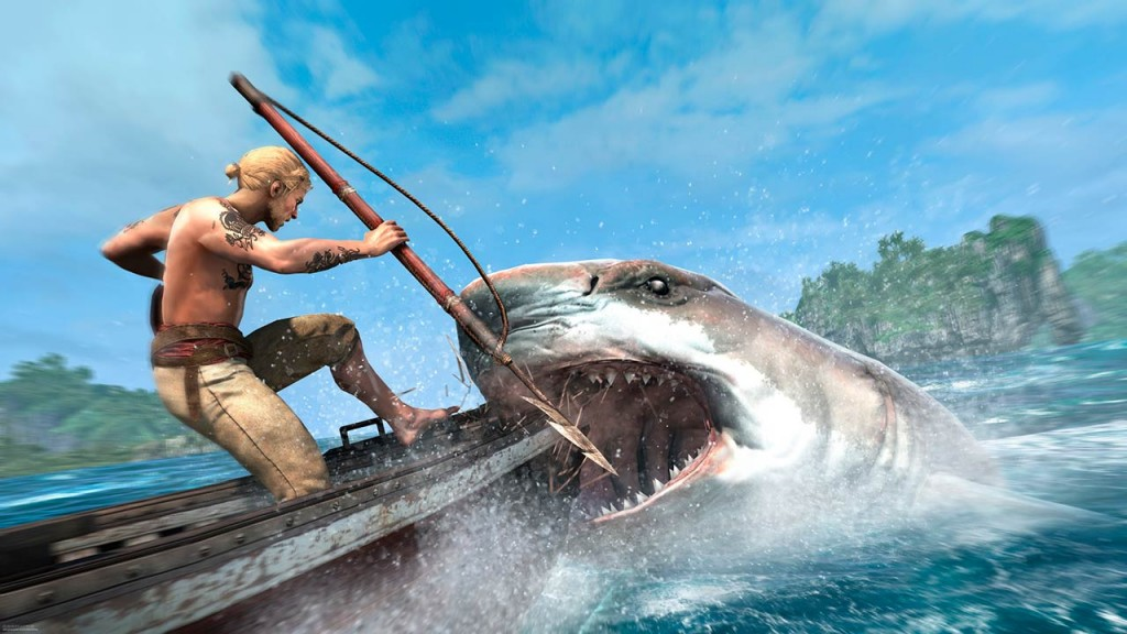 La caza del tiburón en Assassin's Creed IV. ¿Homenaje a Moby Dick?