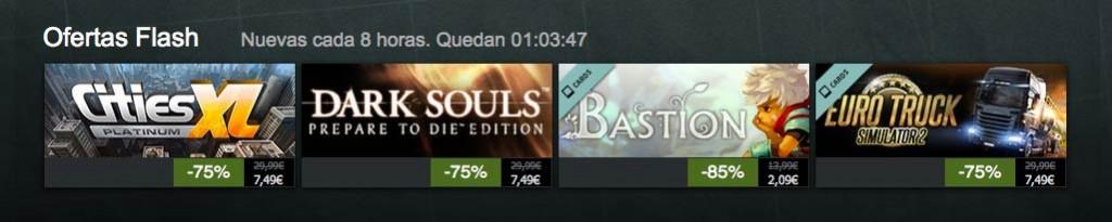 Ofertas flash en Steam con tiempo limitado de compra.Ofertas flash en Steam con tiempo limitado de compra.