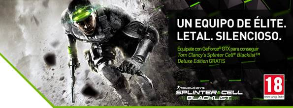 Promoción Nvidia Geforce GTX con Splinter Cell Blacklist.