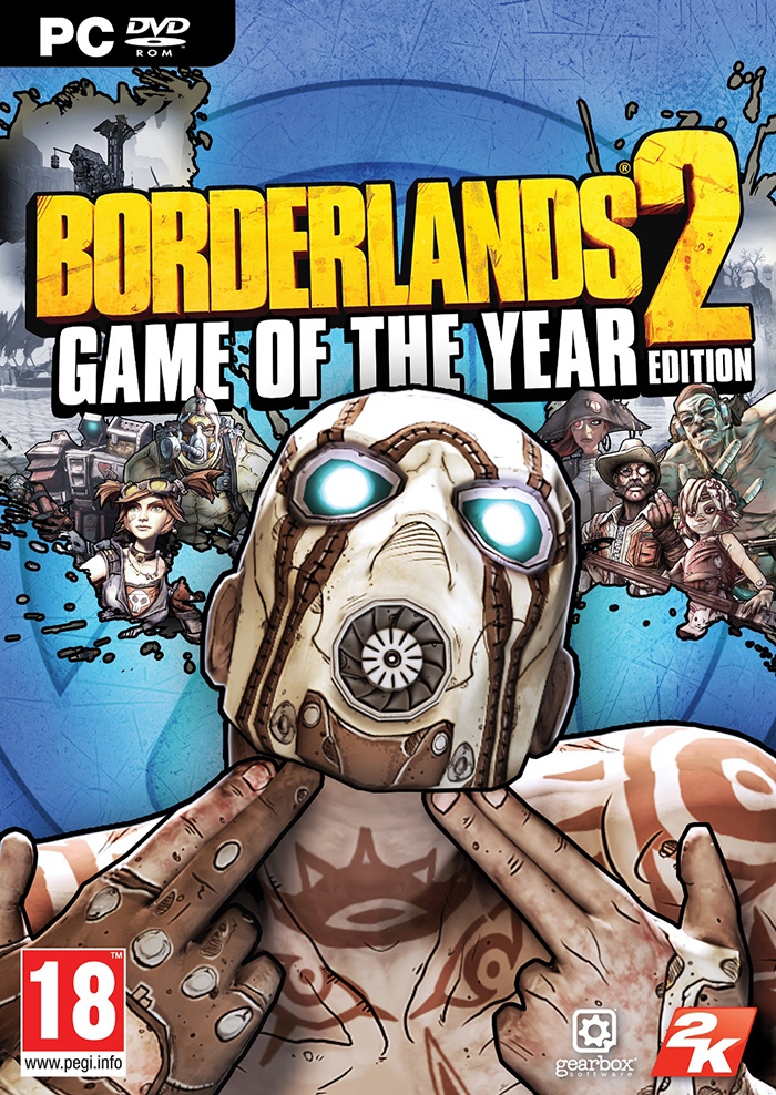 Carátula de Borderlands 2 GOTY para PC.