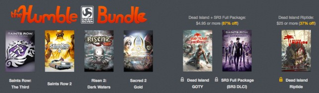 The Humble Bundle de Deep Silver para PC y Steam.