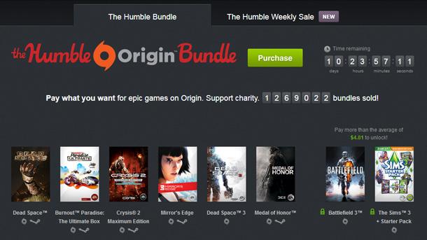Humble Origin Bundle: 8 juegazos de EA por un donativo