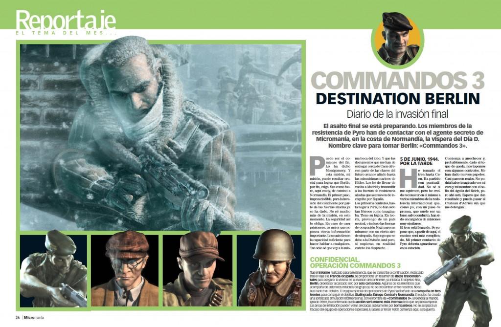 Reportaje Commandos 3