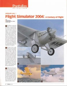 Pantallas Flight Simulator 2004 - Microsoft