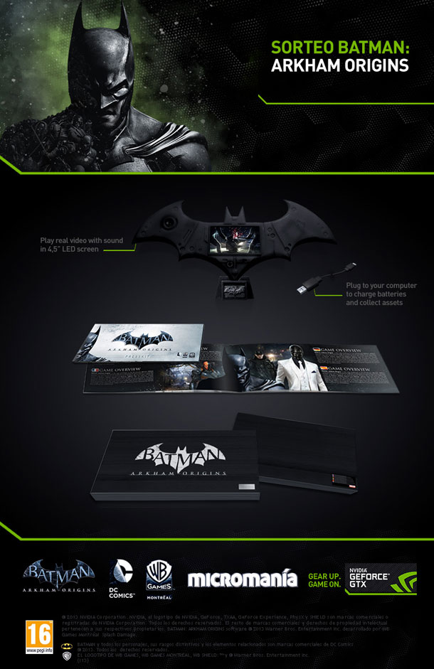 Sorteo GeForce GTX 780 Ti Batman Arkham Origins