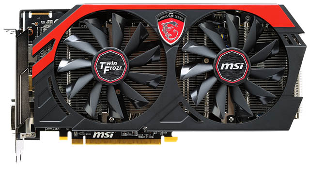 MSI R9 270 GAMING 2G - FRONTAL