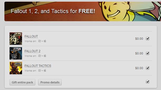 Fallout, Fallout 2 y Fallout Tactics: gratis en GOG