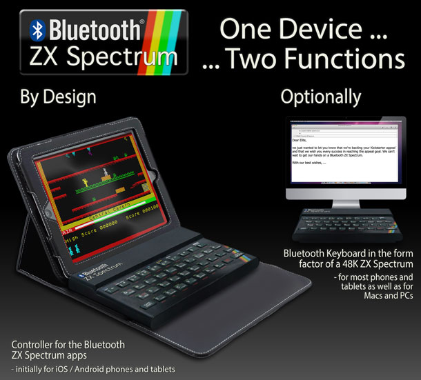 Teclado Bluetooth ZX Spectrum para tu tablet
