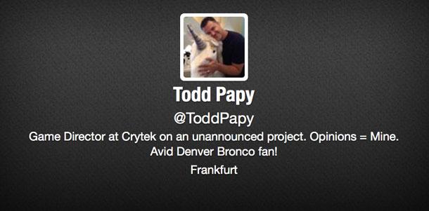 Todd Papy se encarga de lo nuevo de Crytek