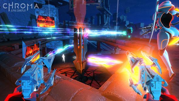 Chroma, un juego de acción gratuito musical