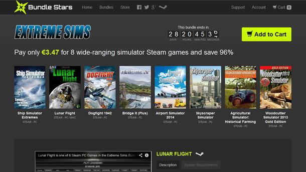 Extreme Sims Bundle: 8 simuladores por 4 euros