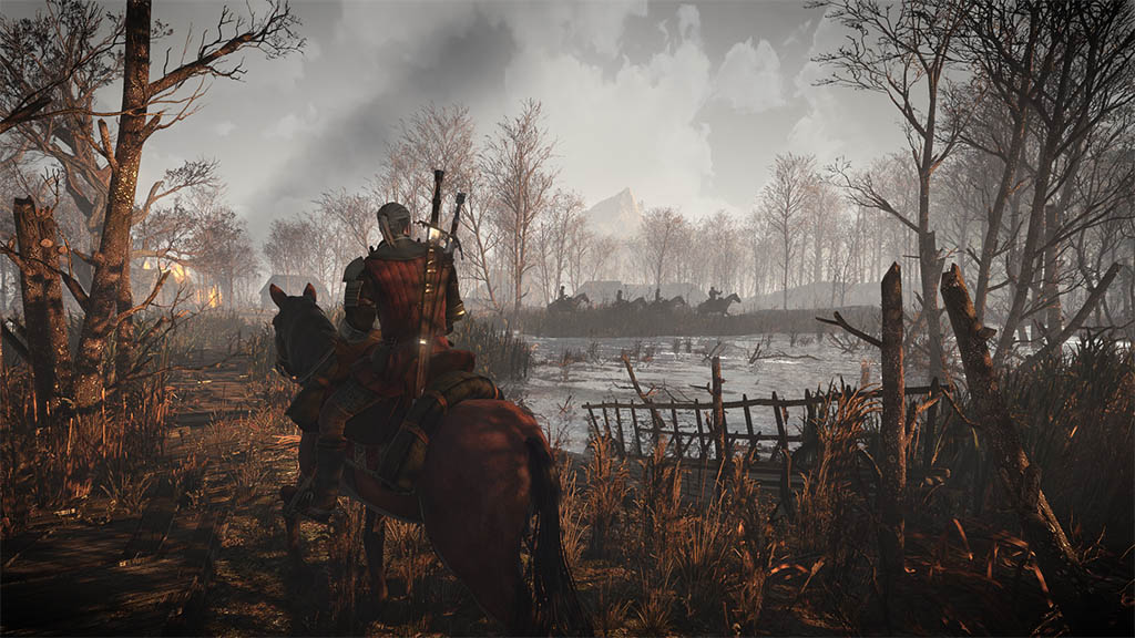 The Witcher 3 - Geralt a caballo