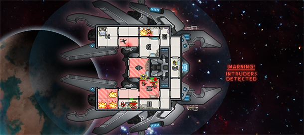 La nave de los Lanius, la nueva raza incluida en FTL: Advanced Edition