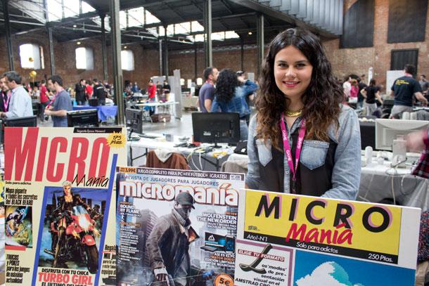 Micromanía también estuvo allí, con nuestra amiga Blanca atendiendo a los visitantes.
