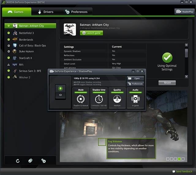 Drivers GeForce 337.50 - ShadowPlay