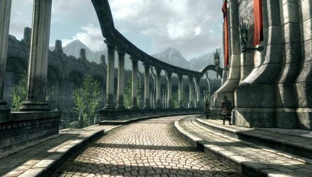 Mirad la ciudadela, qué bien se ve. Algo gris, quizá, pero como pasa con todo en Skyrim.