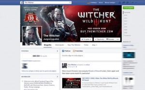 The Witcher 3 en Facebook - Marketing de Videojuegos