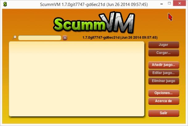 SCUMMVM versión 1.7 preliminar.