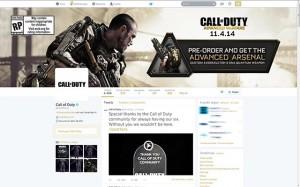 Call of Duty - Advanced Warfare en Twitter - Marketing de Videojuegos