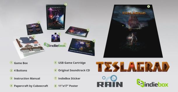 El Teslagrad de Indiebox incluye todo tipo de extras.