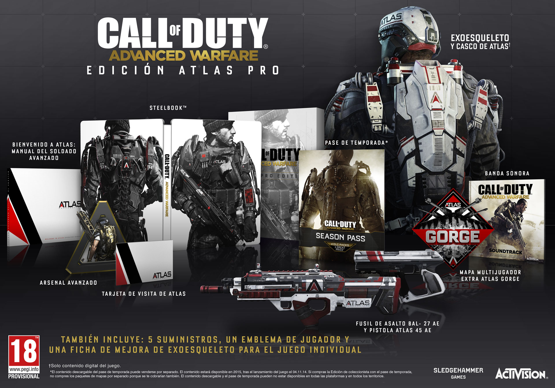 Advanced Warfare Edición Atlas Pro