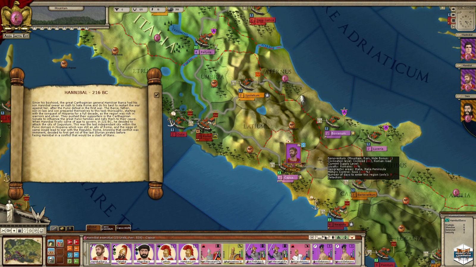 "Hannibal Terror of Rome, estrategia histórica ""sesuda"""