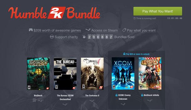 Humble 2K Bundle: juegazos a precio de risa