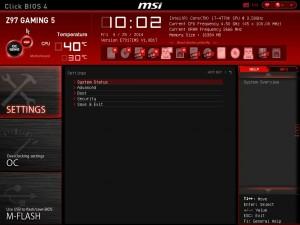 Click Bios 4 - menu principal