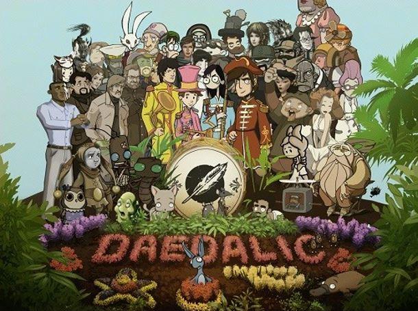 Todos los personajes de Daedalic Entertainment posan para ti.