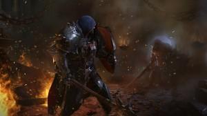 Lado poser del protagonista de Lords of the Fallen.