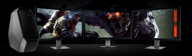 Parece que Alienware tiene un acuerdo con Turtle Rock para que Evolve aparezca en todo el material promocional de Area-51.