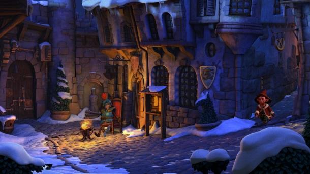 The Book of Unwritten Tales 2 usa gráficos 3D con una jugabilidad totalmente 2D.