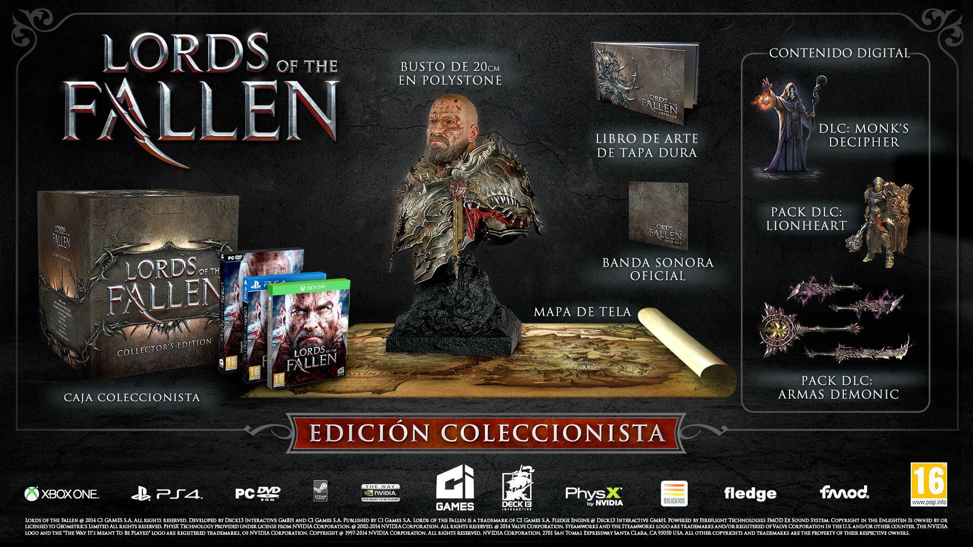Edición de Coleccionista de Lords of the Fallen