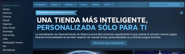 Steam se renueva