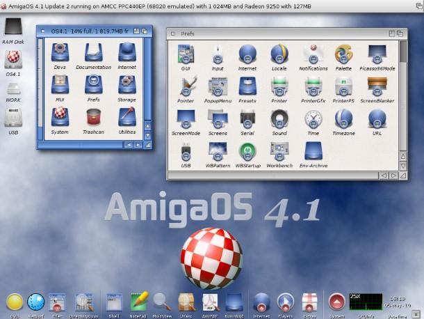 Así luce la actualización 2 de la última versión de AmigaOS, la 4.1.