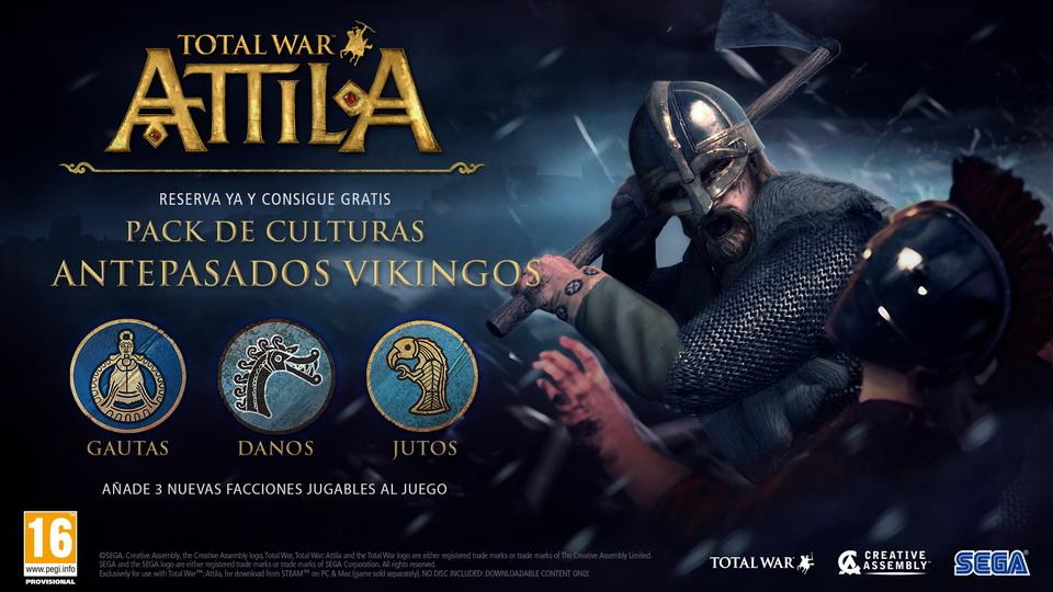 Total War Attila - Antepasados Vikingos DLC - Creative Assembly, SEGA