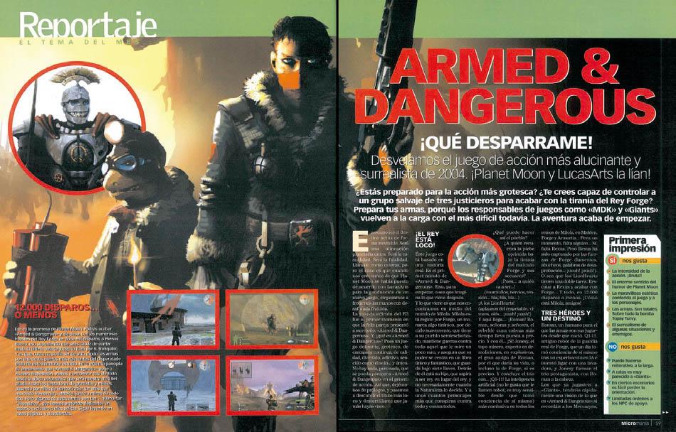 Reportaje Armed & Dangerous