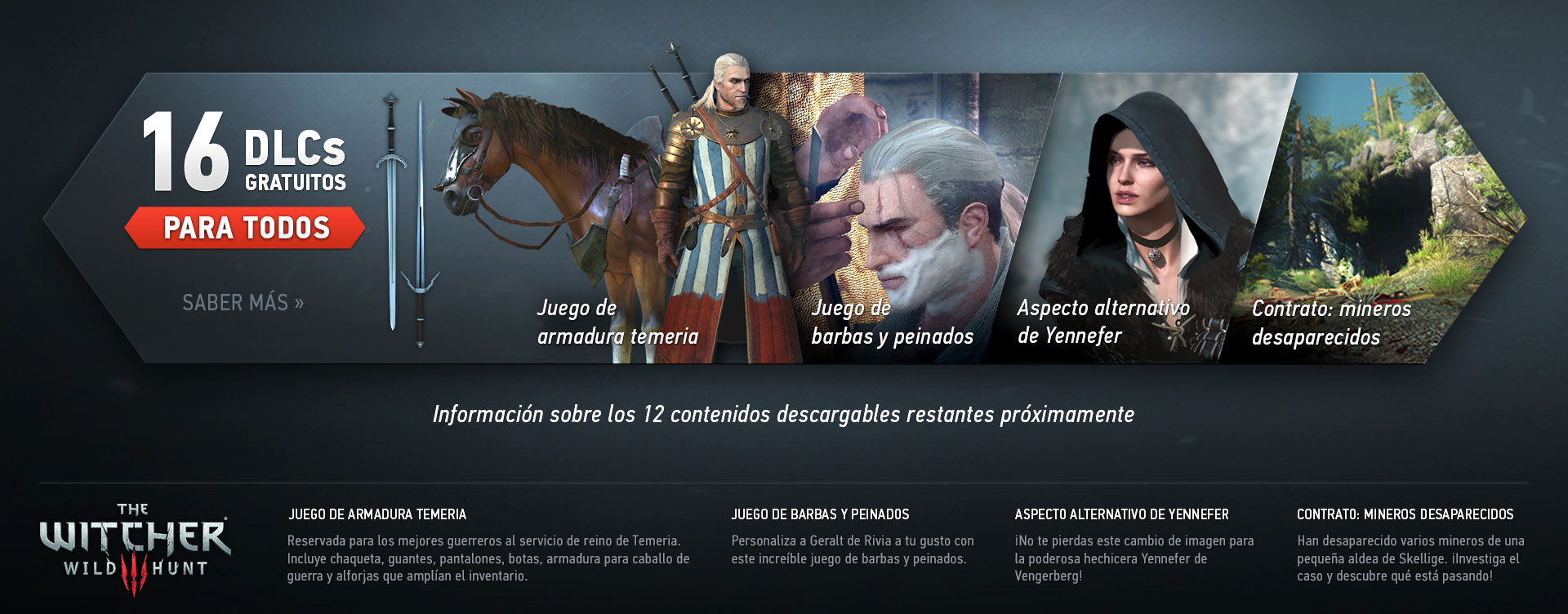 The Witcher 3 regalará 16 DLC
