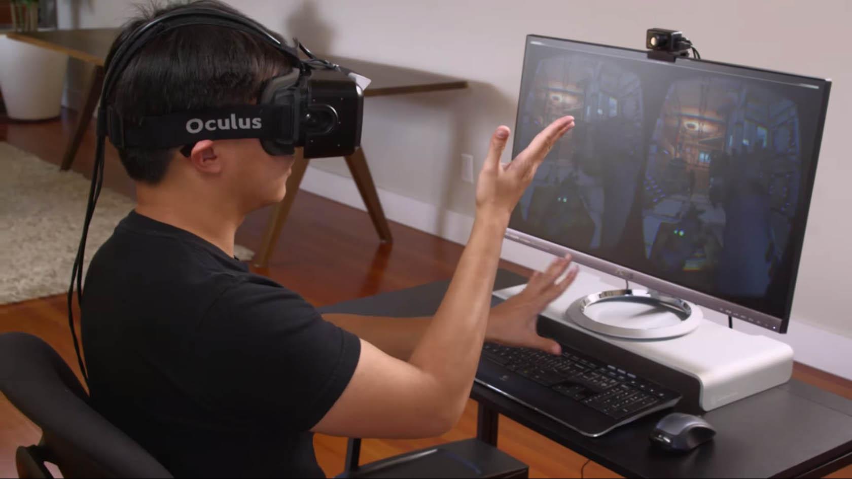 Nimble VR demo - Oculus Rift