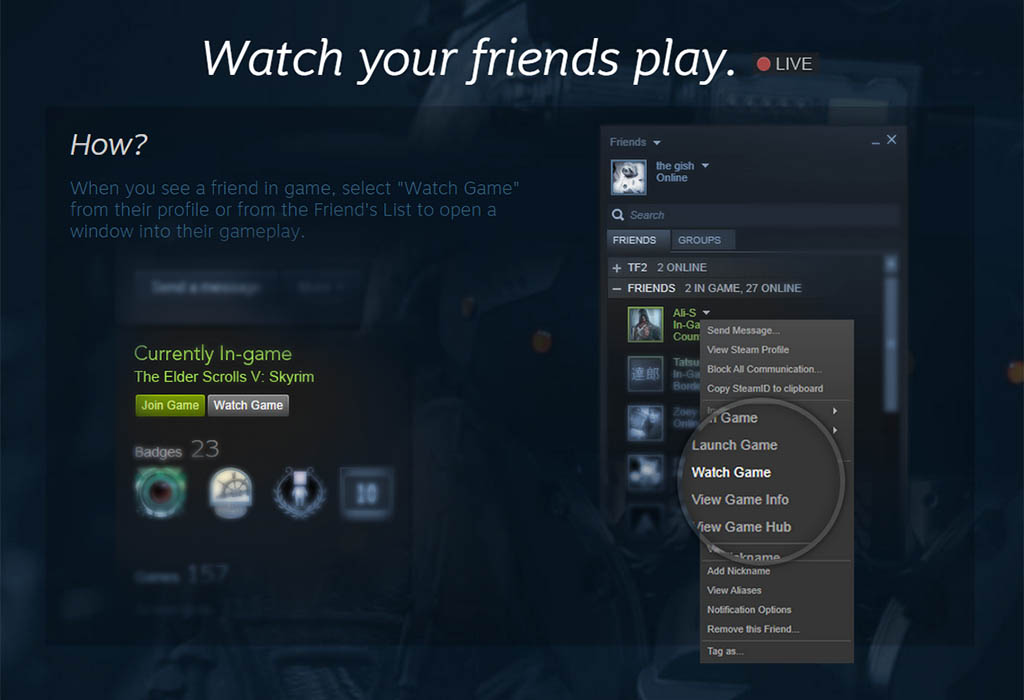 Steam Broadcasting - Beta - Valve