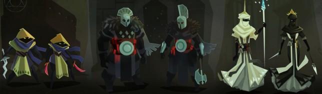 Algunas de las clases que aparecerán en Necropolis.