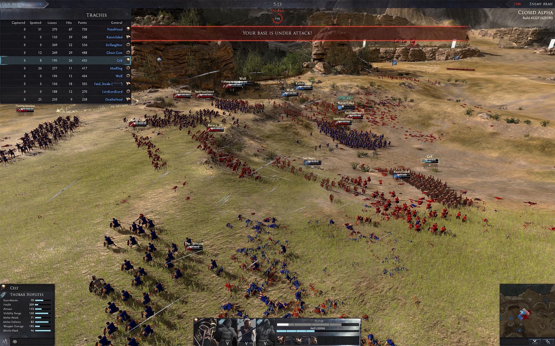 Total War ARENA arranca su alfa cerrada
