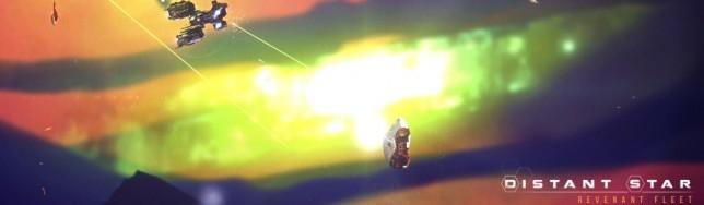Espectaculares fenómenos cósmicos decoran el escenario de Distant Star: Revenant Fleet.