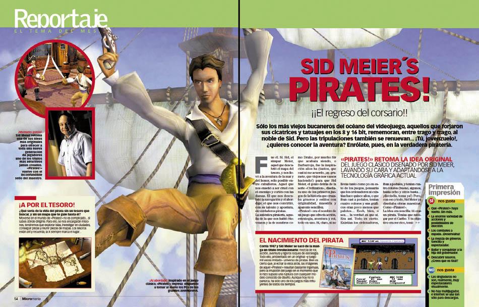 MICROMANIA 111 Reportaje Sid Meier's Pirates
