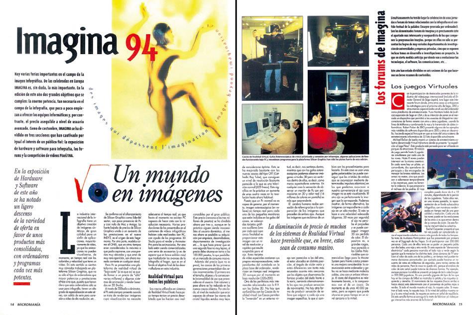 MICROMANIA 71 - Imagina 94 - Reportaje