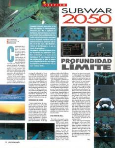 MICROMANIA 72 - Preview Subwar 2050